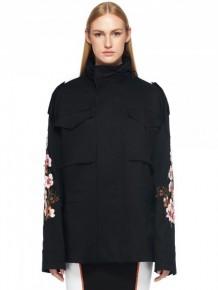 OFF WHITE Black floral print jacket