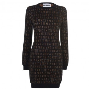 MOSCHINO KNIT LOGO DRESS