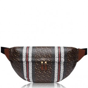 BURBERRY MEDIUM HORSEFERRY brown PRINT BUM BAG
