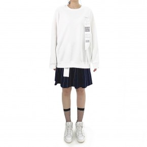 Y3NOLOGY Unisex Oversized Sweatshirt In White