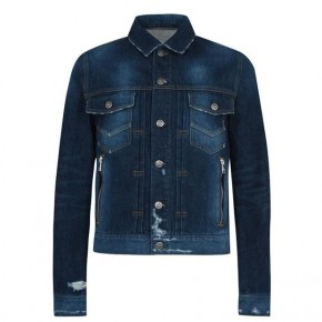 BALMAIN PRINTED DENIM JACKET