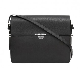 BURBERRY Large Leather Grace Bag in Black