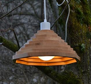 Wood lighting design by French designer Pierrick Romeuf