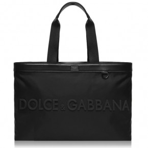 DOLCE AND GABBANA LOGO HOLDALL BAG