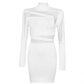 BALMAIN Transparent Panels Knit Dress