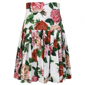 DOLCE AND GABBANA ROSE MIDI SKIRT