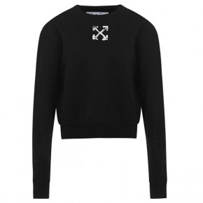 OFF WHITE Arrow Crop Crew Neck Sweatshirt