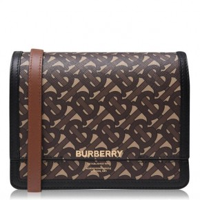 Burberry TB pattern Grace leather shoulder bag
