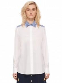 ETRE CECILE blue collar white shirt