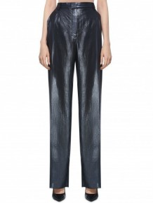 BARBARA BUI Black leather casual trousers