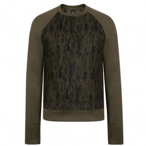 NEIL BARRETT CAMOUFLAGE NEOPRENE LONG SLEEVED SWEATSHIRT