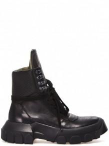 Rick Owens Black hi-top platform boots