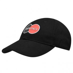 BALENCIAGA MASTERCARD CAP in Black