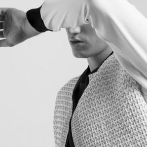 White sewing pattern bomber jacket