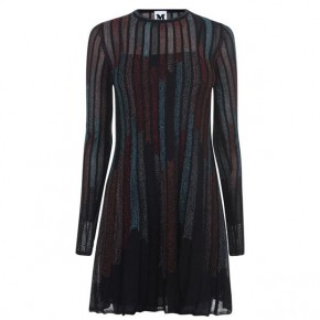 M MISSONI Long Sleeve Striped Dress