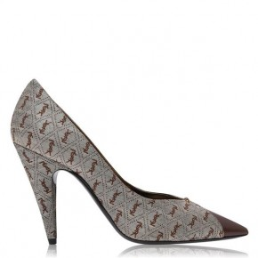SAINT LAURENT MONOGRAM JACQUARD LOLA PUMPS