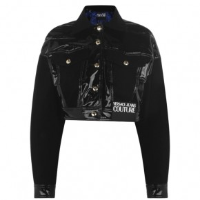 VERSACE JEANS COUTURE CROPPED VINYL JACKET