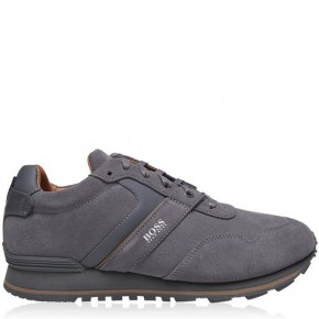 Boss PARKOUR SUEDE RUN TRAINERS