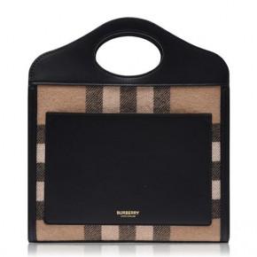 Burberry Latticed Leather Pocket Bag