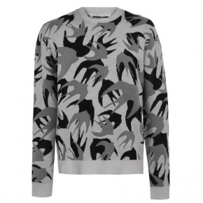 MCQ ALEXANDER MCQUEEN PATCH SWALLOW KNIT JUMPER