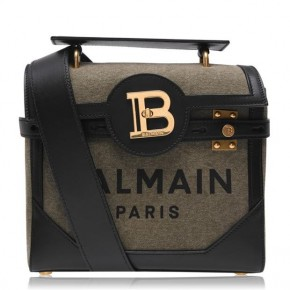 BALMAIN BBUZZ 23 CANVAS BAG military