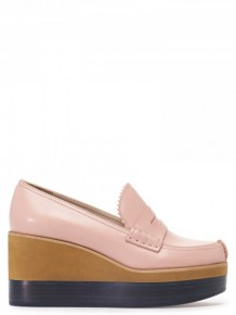 Jil Sander Navy Pink Platform shoes