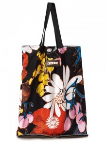 Marni black printed tote bag