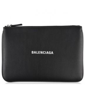 BALENCIAGA VILLE POUCH in Black