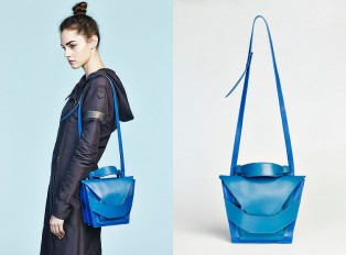 Layered Blue Bag