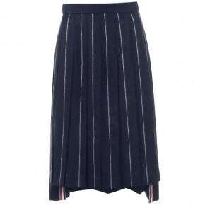THOM BROWNE PIN STRIPE SKATER SKIRT
