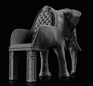 The animal chair collection by Maximo Riera