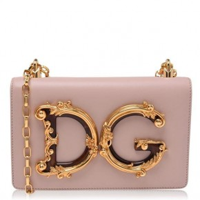 DOLCE AND GABBANA PINK GIRL MINI MESSENGER BAG