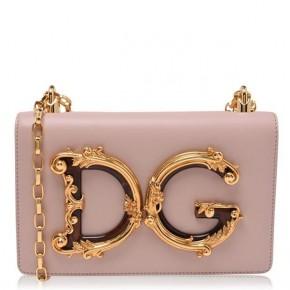 DOLCE AND GABBANA PINK GIRL MINI MESSENGER BAG