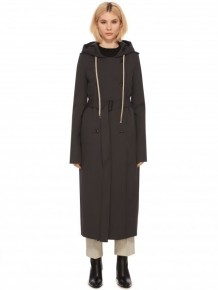 Rick Owens belted grey trench