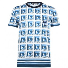 DOLCE AND GABBANA PRINT T SHIRT SKY BLUE