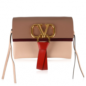 VALENTINO V-RING SMALL CROSS BODY BAG ROSE