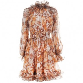 ZIMMERMANN SUPER EIGHT RUFFLED MINI DRESS