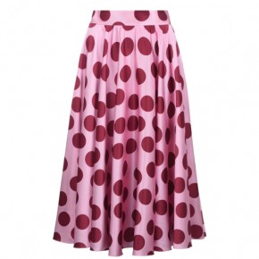 DOLCE AND GABBANA POLKA DOT MIDI SKIRT