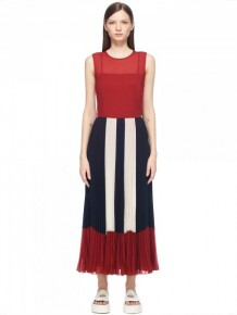 RED Valentino Stripes Maxi Dress