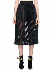 OFF WHITE Black Mid Pleated skirt
