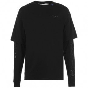 OFF WHITE UNFINISHED LONG SLEEVE T SHIRT