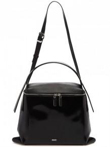 KENZO Black Leather Shoulder Bag