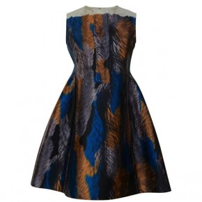 MARNI FUZZY MIKADO SLEEVELESS DRESS
