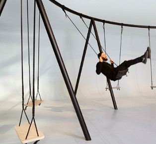 Philippe Malouin Swing Installation for Caesarstone