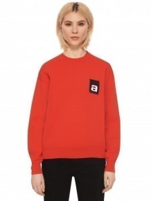 Alexander Wang logo tag red pullover