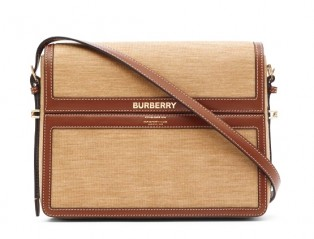 BURBERRY Large Jersey and Leather Grace Bag