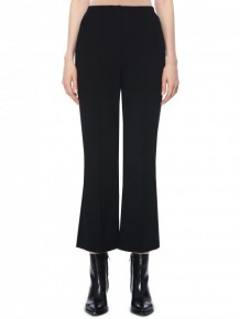 T by Alexander Wang  black cropped flared trousers