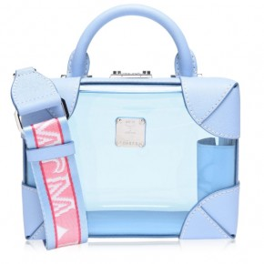 MCM Berlin sky blue shoulder bag