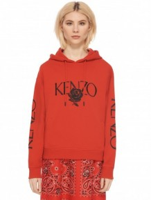 Kenzo Embroidered Logo & Rose hoodie