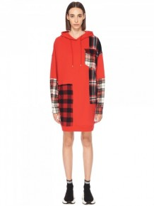 MCQ Alexander Mcqueen checked hoodies dress